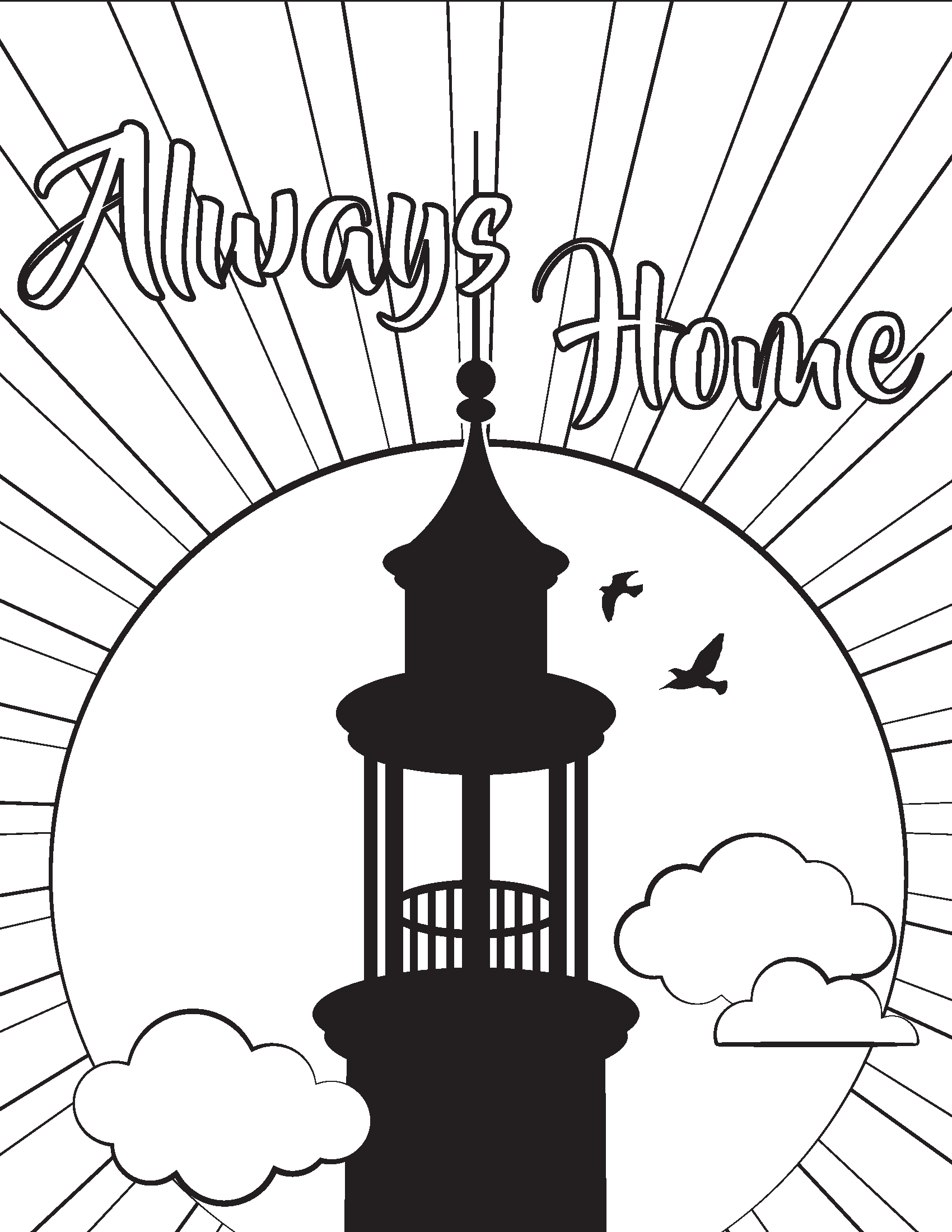 Always Home Coloring Page