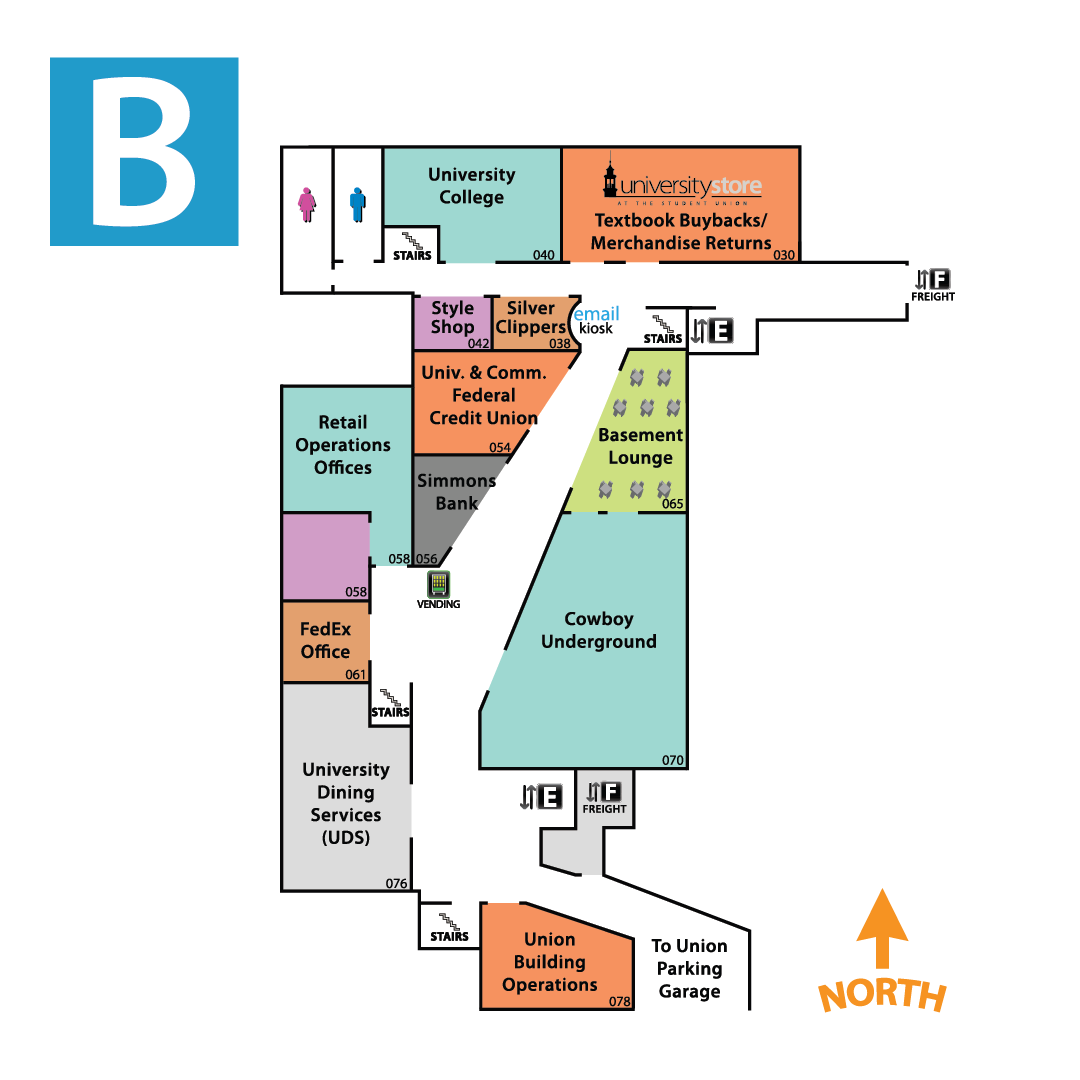 Student Union Floor Map - Basement