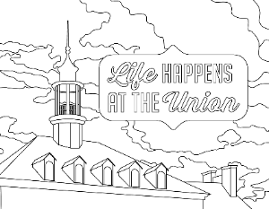 Life Happens at the Union Coloring Page