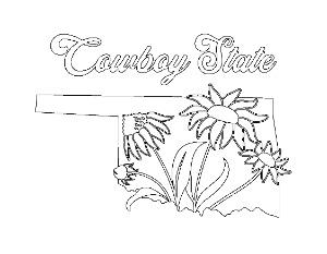 Cowboy State Coloring Page