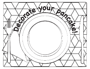 Decorate Your Pancake Coloring Page