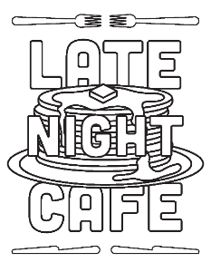 Late Night Cafe Coloring Page