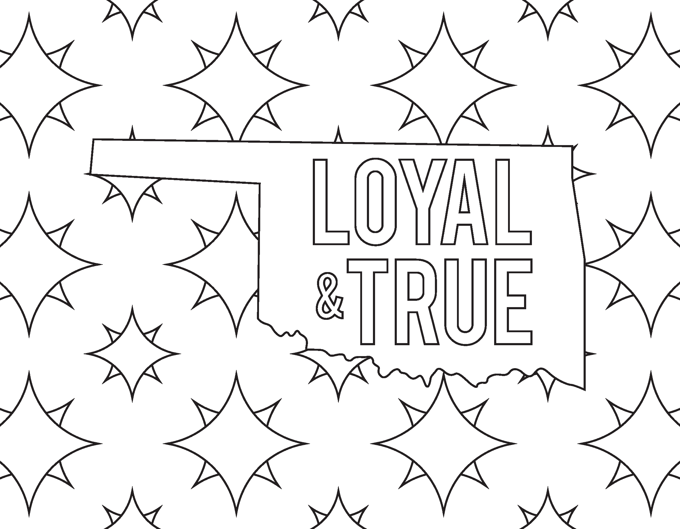 Loyal & True Coloring Page