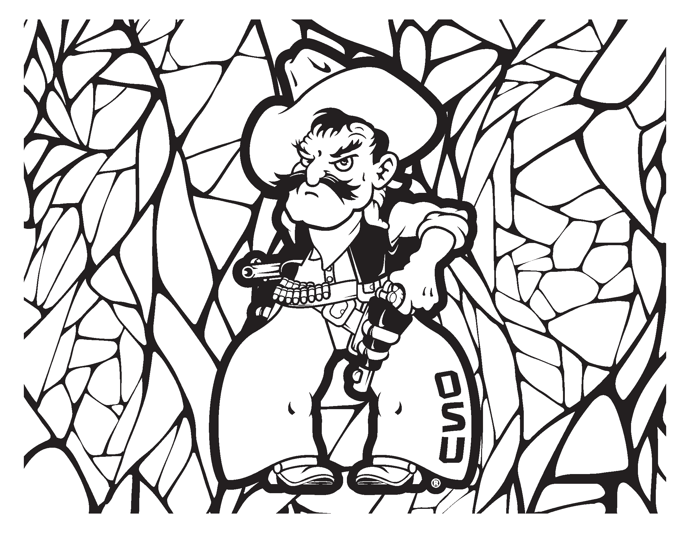 Pete Mosaic Coloring Page