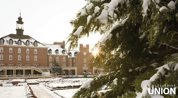 Student Union with Snow